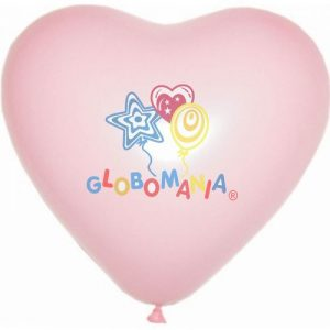 globo corazon latex