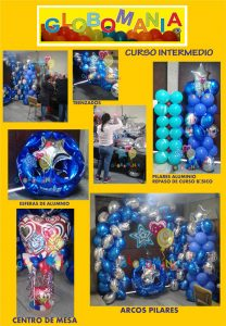 Curso intermedio de decoración con globos